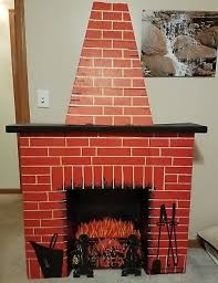 Cardboard Chimney Fireplace