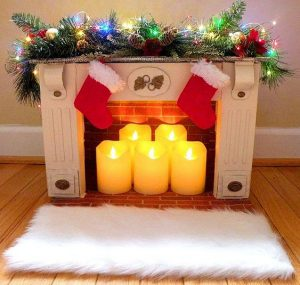 Cardboard Fireplace DIY