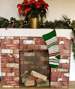 Cardboard Fireplace Decoration