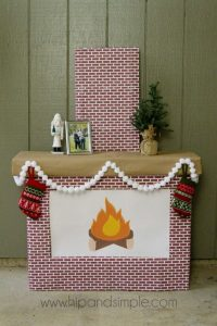 Cardboard Fireplace Mantle