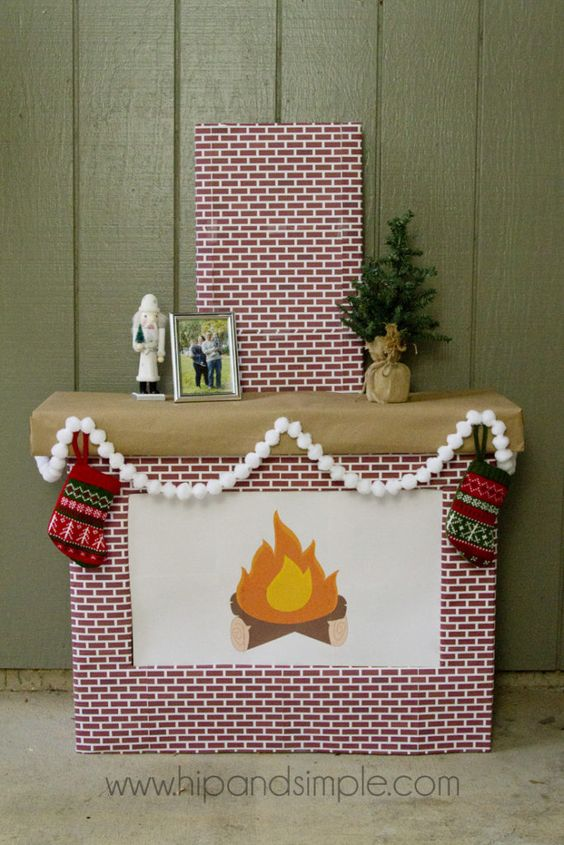 17 Diy Cardboard Fireplace Tutorials Amp Ideas