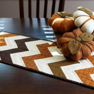 Chevron Table Runner Halloween