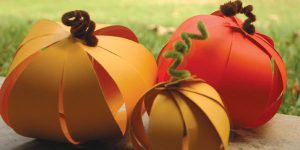 Crafting Paper Pumpkins