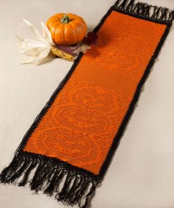 Crochet Halloween Table Runner Pattern