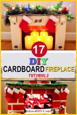 DIY Cardboard Fireplace Tutorials