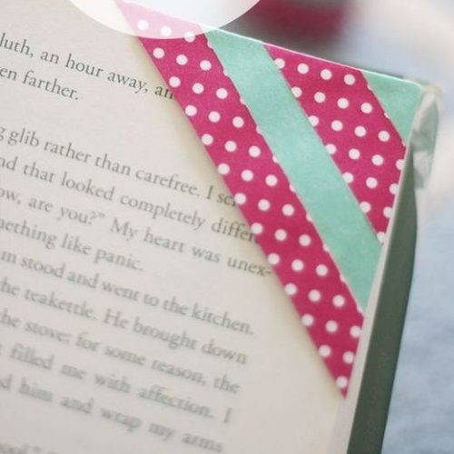 DIY Washi Tape Bookmarks for Kids
