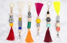 DIY Wood Bead Keychains