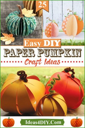 DIY paper Pumpkin Craft Ideas