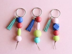 Easy DIY Beaded Keychain
