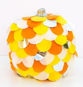 Easy Paper Pumpkin Idea