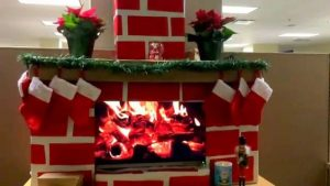 Faux Cardboard Fireplace