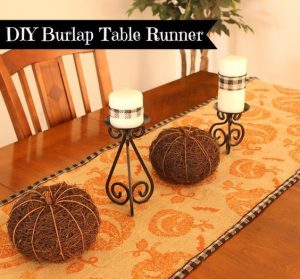 Halloween Burlap Table Runner