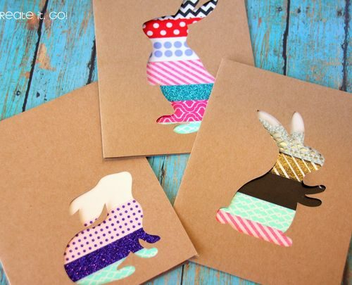 Handmade Washi Tape Easter Cards