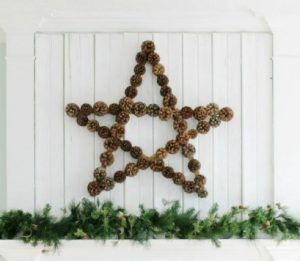 Large Pinecone Star Wreath