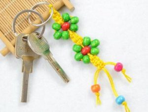 Macrame Beaded Keychain
