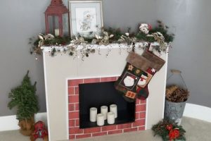 Mini Cardboard Fireplace