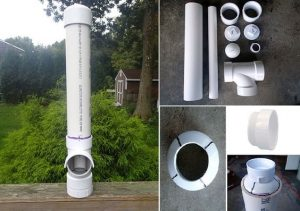 PVC Tube Bird Feeder