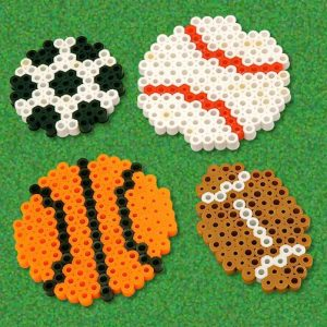 Perler Bead Ball Keychain Instructions