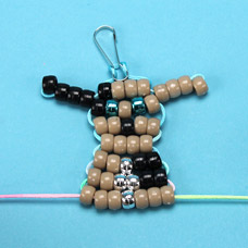 Pet Animal Beaded Key Chain
