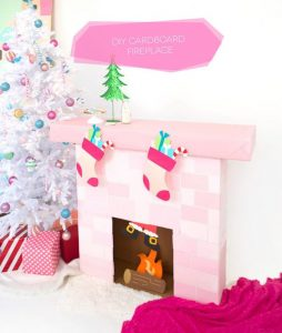 Picture of Cardboard Fireplace