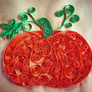 Quilled Paper Pumpkin
