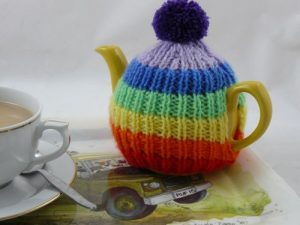 Rainbow Teapot Cozy