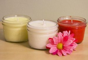 Soy Candles in Mason Jars