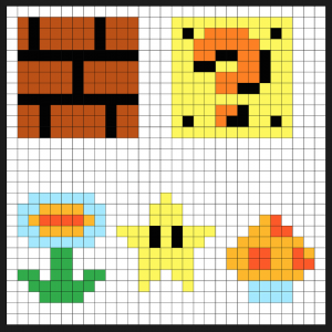 Super Mario Perler Beads Keychain Patterns