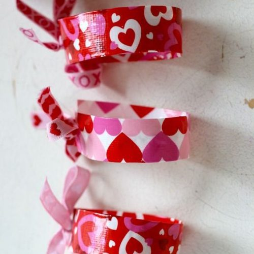 Washi Tape Bracelets for Valentines Day