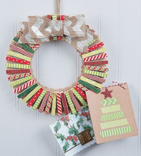 Washi Tape Christmas Wreath