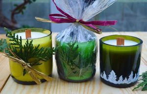 Wine Bottle Soy Wax Candles