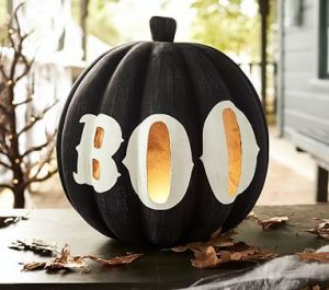 Black Painted Pumpkin
