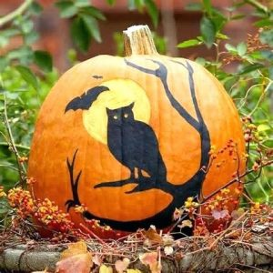 Cool Pumpkin Painting Design