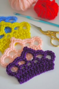 Crochet Crown Applique Pattern