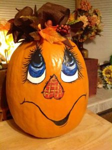 Cute Pumpkin Painting Design
