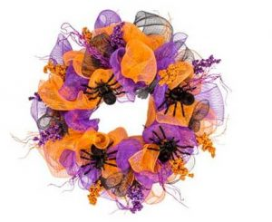 Easy Halloween Mesh Wreath Ideas