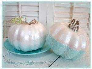 Girly Styrofoam Pumpkins