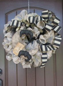 Halloween Black Mesh Wreath