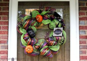 Halloween Wreath with Mesh