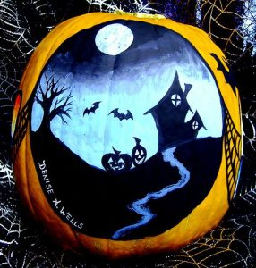 No Carve Pumpkin Painting Design for Halloween