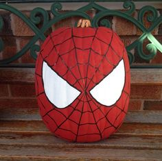 Spiderman Pumpkin Painting