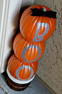 Stacked Styrofoam Pumpkins