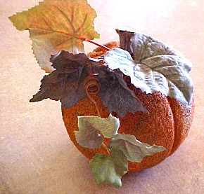 Styrofoam Pumpkin Craft