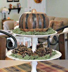 Styrofoam Pumpkin Decoration