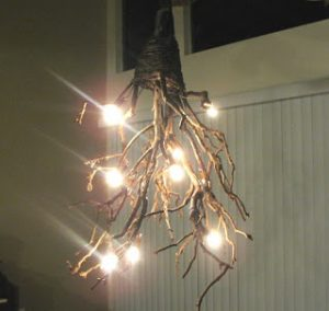 DIY Twig Chandelier