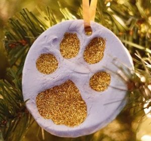 Handmade Clay Paw Print Ornament