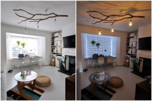 How to Make Twig Chandelier
