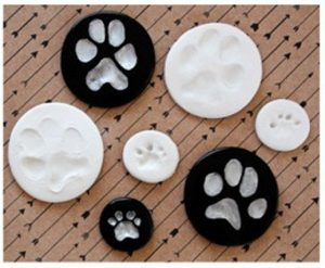 Paw Print Ornaments with Clay