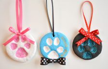 Salt Dough Paw Print Ornaments