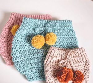 HIgh Waisted Crochet Diaper Cover